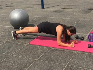 plank up and down